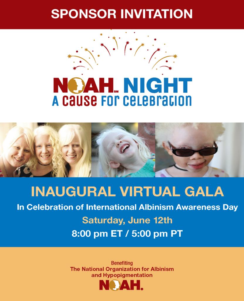 Sponsor Invitation: NOAH Night A Cause for Celebration
